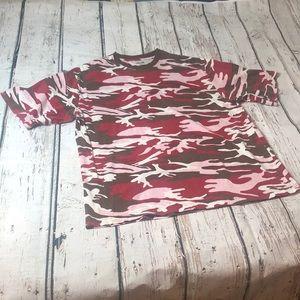 Vintage Finishline Urban Camo Xl T-Shirt Red Pink